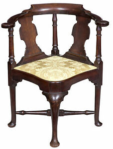 Swc Queen Anne Corner Chair With Horseshoe Seat Boston C 1770