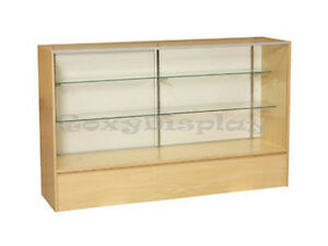 60 Maple Full Vision Showcase Display Case Store Fixture Knocked Down sc5m