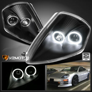 2000 2005 Mitsubishi Eclipse Dual Halo Projector Headlights Black Left Right