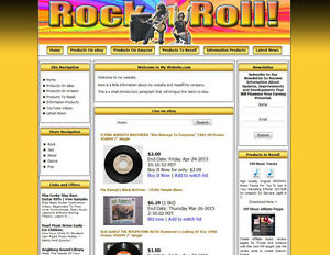 Money Making Rock Shop Affiliate Website Amazon ebay google dropship