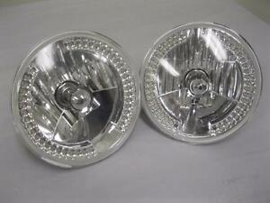 1997 2015 Jeep Wrangler 7 Led White Halo Round Chrome Clear Headlights Tj