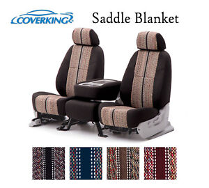 Coverking Custom Seat Covers Saddle Blanket Front Row 4 Color Options
