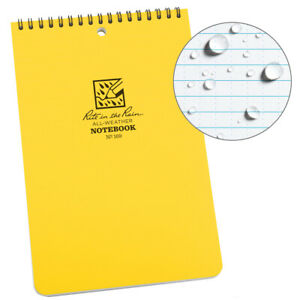 Rite In The Rain 169 All weather 6 inch By 9 inch Top Spiral Universal Notebook