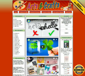 Arts Crafts Store Ready Made Affiliate Website Ebay amazon google clickbank