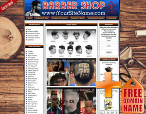 Barber Shop Business Website Ebay amazon google dropship youtube