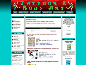 Tattoo Supplies Shop Website Busniess For Sale Amazon Google Aliexpress Dropship