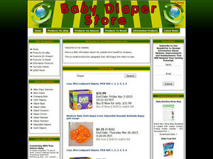 Baby Cloth Diaper Shop Business Website For Sale Ebay amazon google dropship