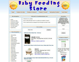 Baby Food Shop Business Website For Sale Ebay amazon Affiliate google dropship