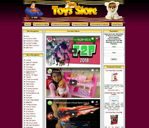Established Baby Toys Shop Website Online Business Sale Drop Ship Free Domain