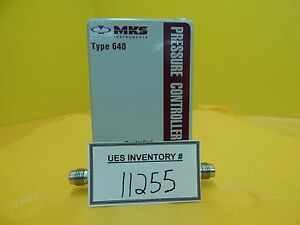 Mks Instruments 640a11tw1va2v Pressure Controller Type 640 Used Working