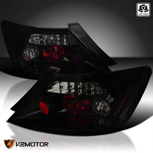 Glossy Black For 2006 2011 Honda Civic Coupe 2dr Tail Lights Smoke Lens Lamps