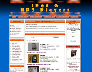 Ipod Ebay Affiliate Mp3 Store Website For Sale With Adssense Amazon Clickbank