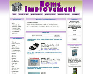 Home Improvement Established Make Money Affiliate Online Business Website Sale