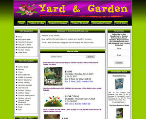 Home Yard Garden Established Make Money Affiliate Online Business Website Sale