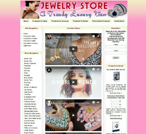 Jewelry Store Ready Made Affiliate Business Website Ebay amazon google clickbank
