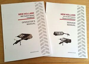 New Holland 489 Haybine Mower Conditioner Operator s And Service repair Manual