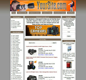 Digital Cameras Store Website Google Adsense ebay youtube amazon rss dropship