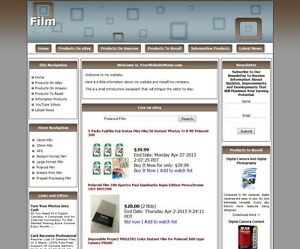 Film Store Complete Ready Made Affiliate Website Amazon adsense dropship