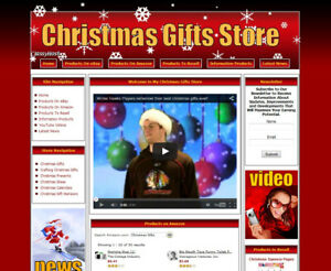 Christmas Gifts Store Ready Made Affiliate Website Ebay amazon google dropship