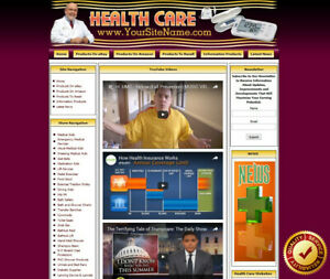 Health Care Store Turnkey Affiliate Website Dropship Free Domain Name