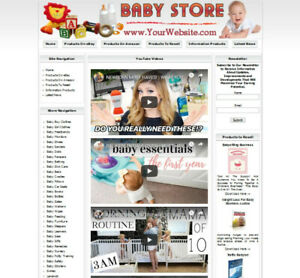 Baby Store Profitable Online Business Website Amazon Google Ebay Clickbank