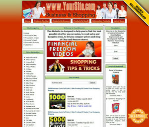 Business Shopping Website For Sale Amazon Ebay Affiliate Adsense Domain