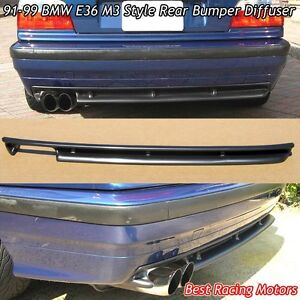 M3 Style Rear Bumper Diffuser abs Fits 91 99 Bmw E36 3 series