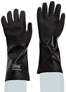 1 Dz Showa Best 7712r Black Knight Pvc Gloves 12 Inch