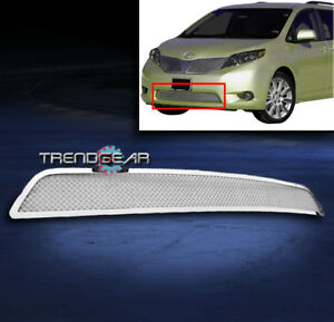 2011 2014 Toyota Sienna Bumper Stainless Steel Wire Mesh Grille Chrome 2012 2013