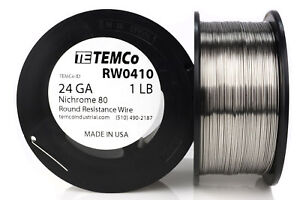 Temco Nichrome 80 Series Wire 24 Gauge 1 Lb 865ft Resistance Awg Ga