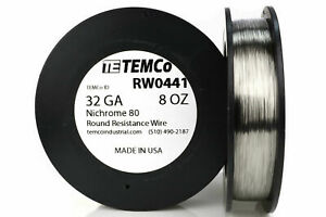 Temco Nichrome 80 Series Wire 32 Gauge 8 Oz 2731 5ft Resistance Awg Ga