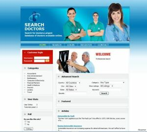 Doctor Service Search Directory Website Google Adsense Make Money From Home