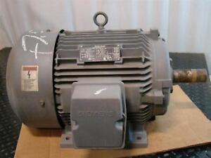 Siemens 7 1 2hp Electric Motor 230 460v 1170rpm 1la02546fp21