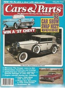 Cars And Parts Magazine April 1992 With 57 Chevy 61 Olds 52 Nash 32 Chrysler