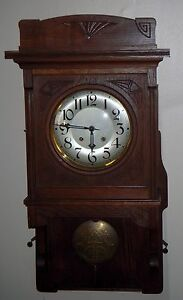 Antique Lfs Furtw Ngler S Hne Chime Swinger Wall Clock 8 Day Germany Working