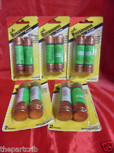 New Lot Bussmann Frn r 50 Amp Fuses Energy Efficient Rk5 250v Blister Pack