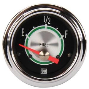 Stewart Warner 301aw Green Line Fuel Level Gauge 2 1 16 Inch