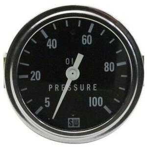 Stewart Warner 82406 2 5 8 Inch Deluxe Mechanical Oil Pressure Gauge