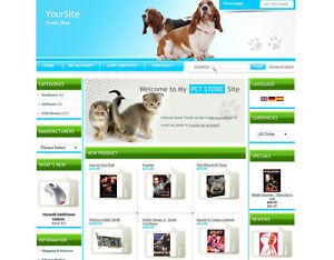 Pet Store Business Website For Sale Sell Cats Dogs Birds Food Toys Homes