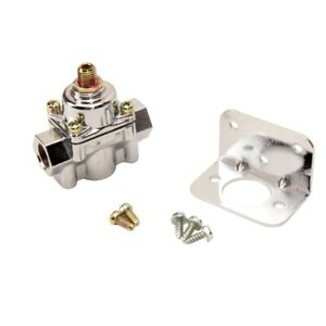 Holley 12 804 Adjustable Chrome Plated Fuel Pressure Regulator 1 4 Psi 3 8 Npt