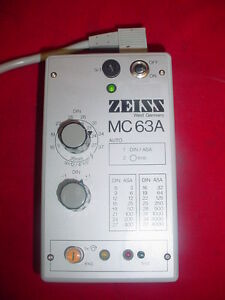 Carl Zeiss Mc 63a Photomicrographic Camera Exposure Controller