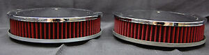 Lot Of 2 spectre 47708 Chrome Air Cleaner 9 X 2 9x2 For Tunnel Ram Dual Carb