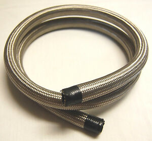 Spectre 39506 Steel Braided Flex Line Hose 1 2 Id X 6 Fuel Oil Water Line