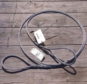 1 2 X 15 Feet Cable With Looped Ends Miltiary Logging Winch Towing Lifting New