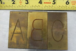 New Hermes Engraving Brass Font Type Numbers Large Unknown 6