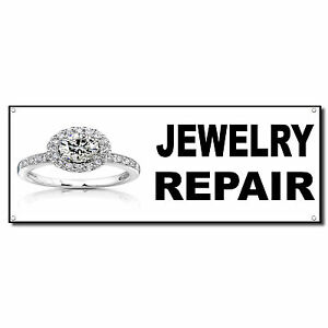 Jewelry Repair Business Vinyl Banner Sign W Grommets 3 Ft X 6 Ft