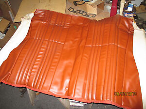 Pr nos Fiat early Spider 124 2000 Mahogany brown Rear Back Seat Cover upholstery