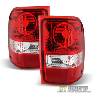 2001 2011 Ford Ranger Red Clear Tail Lights Replacement Lamps 01 11 Left Right