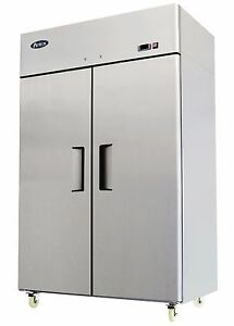 New Commercial 2 Door Freezer Atosa Mbf8002 Free Shipping And Lift Gate