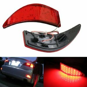 Red Lens 33 smd Led Rear Bumper Reflectors Lights For 2006 13 Lexus Is250 Is350